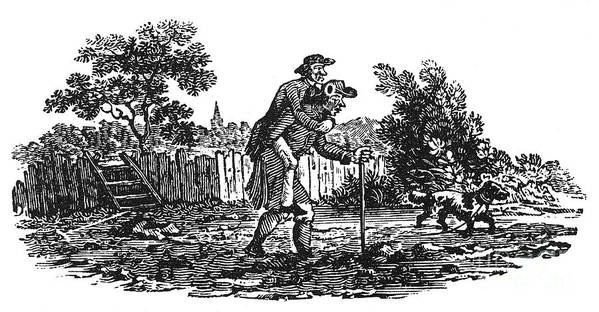 19th Century Poster featuring the photograph Bewick: Man Carrying Man by Granger