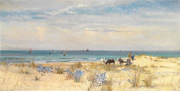 Boat Poster featuring the painting Harvesting The Land And The Sea by William Lionel Wyllie
