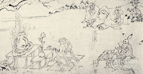 11th Century Poster featuring the photograph Japan: Animals As Humans by Granger