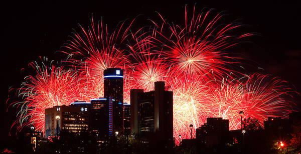The Poster featuring the photograph The 54th Annual Target Fireworks In Detroit Michigan - Version 2 by Gordon Dean II