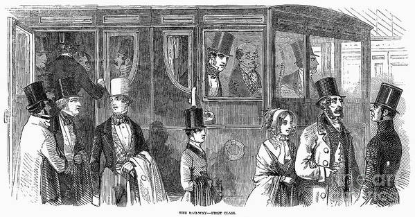 1847 Poster featuring the photograph Train Travel: First Class by Granger