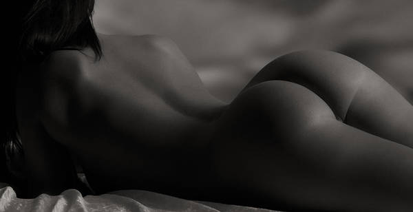 Nude Poster featuring the photograph Solitude by Naman Imagery