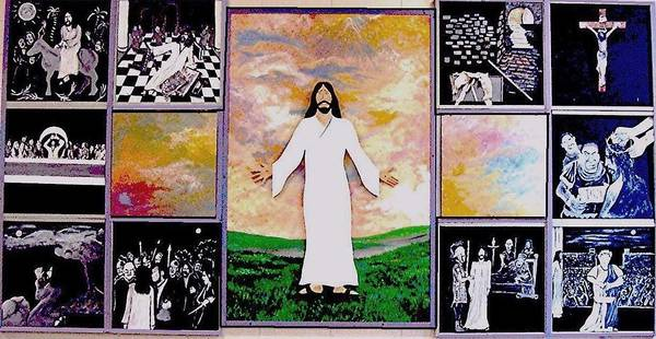 Jesus Poster featuring the relief All - 1 by Richard Hubal