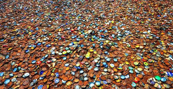 Bottlecap Alley Poster featuring the photograph Bottlecap Alley by David Morefield