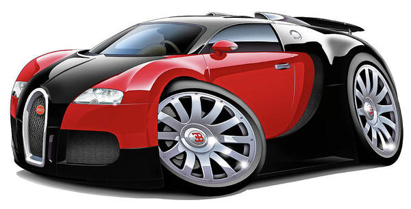 Veyron Poster featuring the digital art Bugatti Veyron by Maddmax