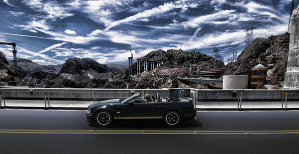 Car Bridge Poster featuring the photograph Car by Marco Moscadelli