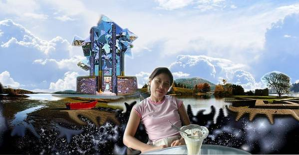 Spacem Maine Poster featuring the digital art Emma's Afternoon Snack by Dave Martsolf