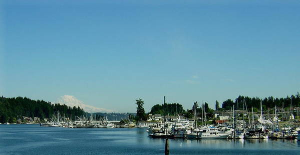 Gig Harbor Bay Poster featuring the photograph Gig Harbor Bay by Valerie Josi