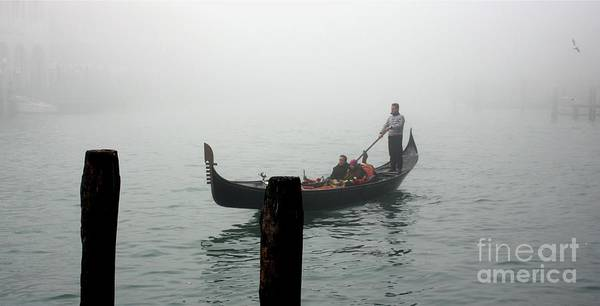 Italy Poster featuring the photograph Gondola In The Fog by Michael Henderson