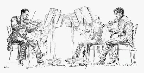 20th Century Poster featuring the photograph Lener String Quartet by Granger