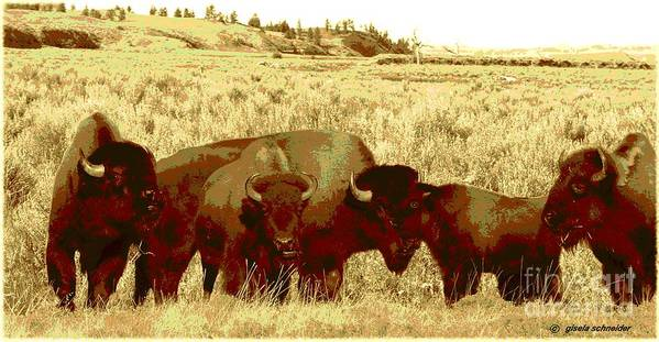 Giselaschneider Poster featuring the photograph On The Move ... Montana Art Photo by GiselaSchneider MontanaArtist