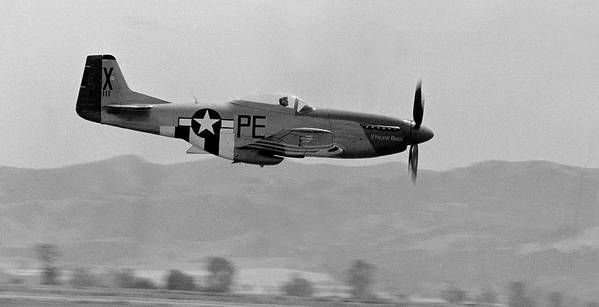 P51 Poster featuring the photograph P-51d by BuffaloWorks Photography