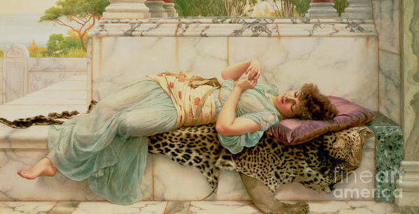 The Betrothed Poster featuring the painting The Betrothed by John William Godward