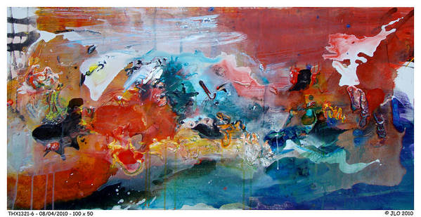 Abstract Jlo Thx Poster featuring the painting Thx1321-6 by Jlo Jlo
