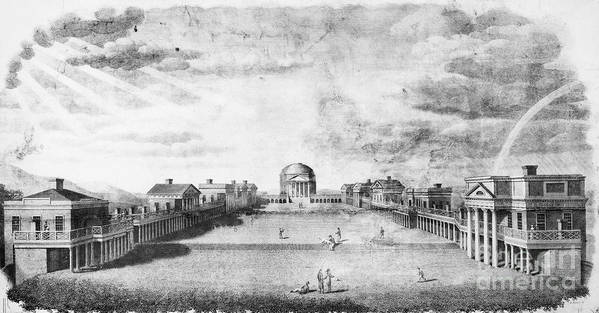 1826 Poster featuring the photograph University Of Virginia by Granger