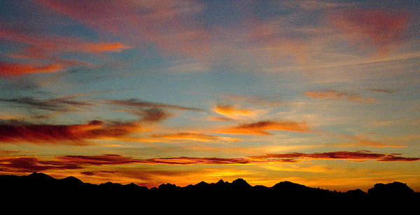 Arizona Sunset Poster featuring the photograph Usery Sunset by Randy Oberg