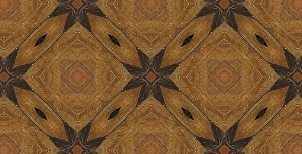 Kaleidoscope Poster featuring the photograph Wooden Maltese Cross Fresco by M E Cieplinski