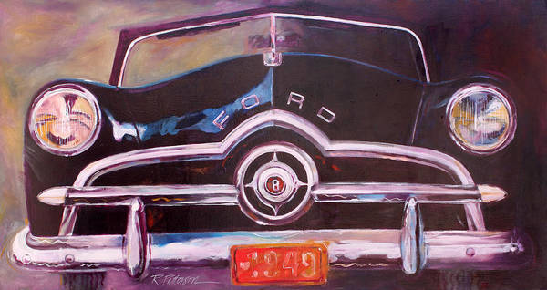 Transportation Poster featuring the painting 1949 Ford by Ron Patterson