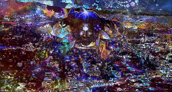 The Big Lebowski Poster featuring the digital art Flying Lebowski by D Walton