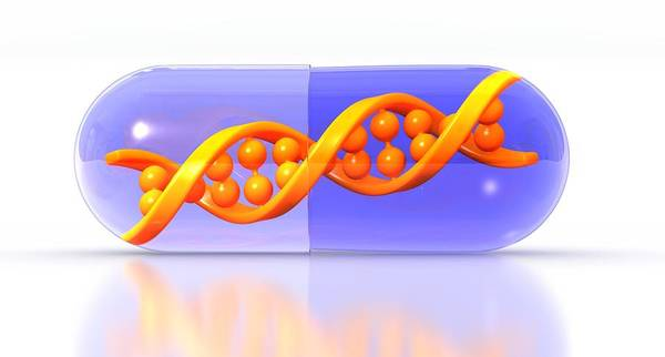 Artwork Poster featuring the photograph Gene Therapy, Conceptual Image by Science Photo Library