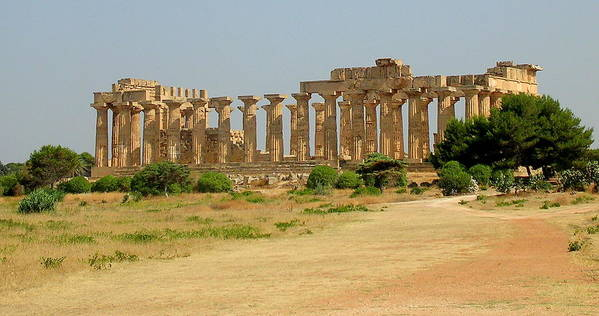 Sicily Poster featuring the photograph Acropolis Of Selinunte by Caroline Stella