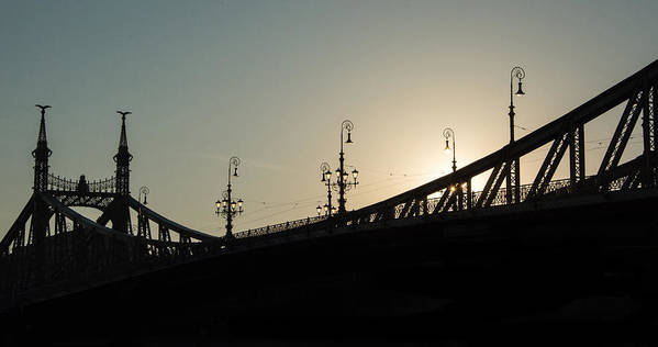 Budapest Poster featuring the photograph Bridge Silhouette by Tom Kolossa