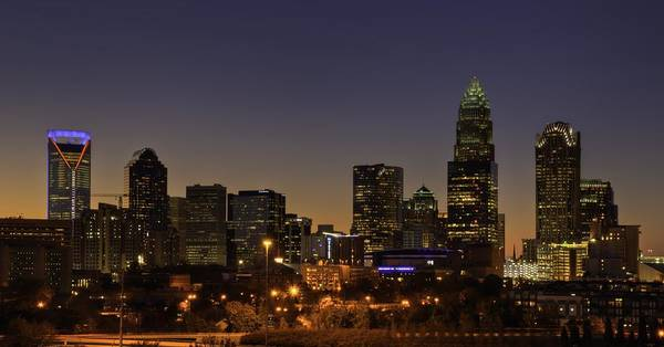 Charlotte Poster featuring the photograph Charlotte Nc by Serge Skiba