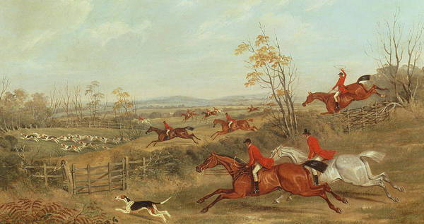 Hunt Poster featuring the painting In Full Cry by James Russell Ryott