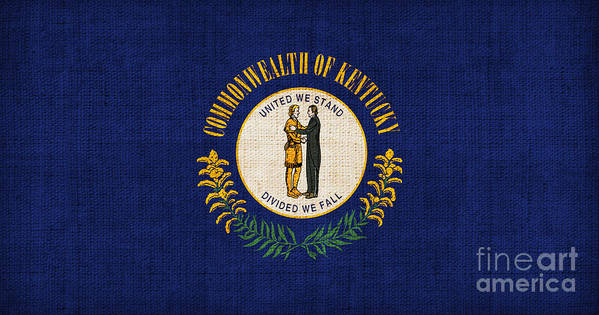 Kentucky Poster featuring the painting Kentucky State Flag by Pixel Chimp