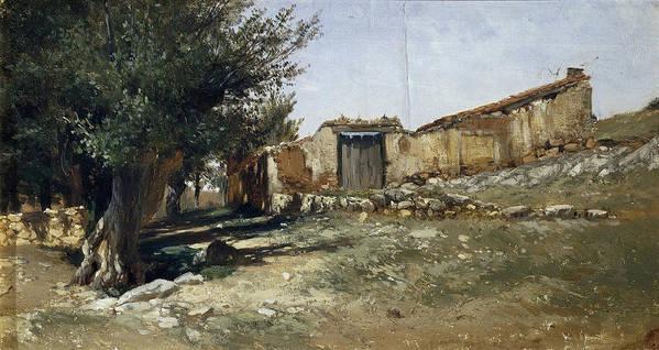 Carlos De Haes Poster featuring the painting Landscape In Aragon by Carlos de Haes