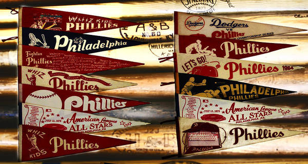 Phillies Poster featuring the photograph Phillies Pennants by Bill Cannon