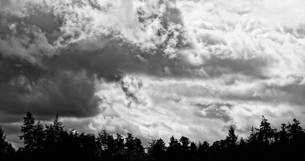 B&w Poster featuring the photograph Rain's Coming by Ronda Broatch
