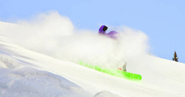 Snowboarding Poster featuring the photograph Snow Spray by Theresa Tahara