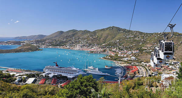 Scenic Poster featuring the photograph St Thomas Panorama by George Oze