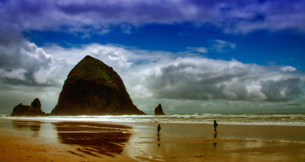 Cannon Beach Poster featuring the photograph Cannon Beach At Dusk by David Patterson