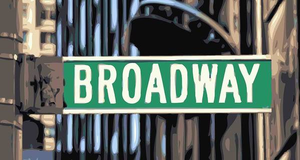 New York Broadway Sign Poster featuring the photograph Broadway Sign Color 16 by Scott Kelley