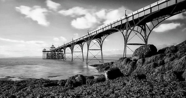 Horizontal Poster featuring the photograph Clevedon Pier by Photographer Nick Measures