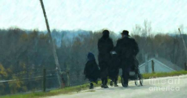 Amish Poster featuring the photograph Family Time by Debbi Granruth