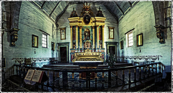 Church Poster featuring the photograph Mission California by Darren Cornea