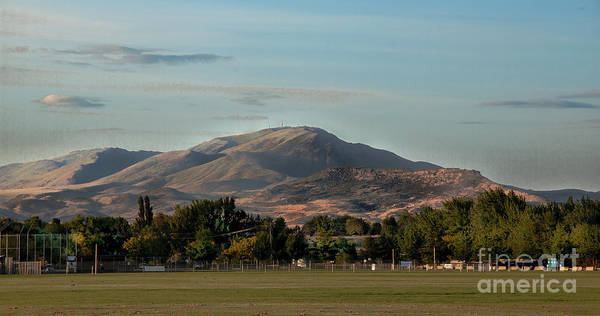 Sport Complex. Squaw Butte Poster featuring the photograph Sport Complex And The Butte by Robert Bales