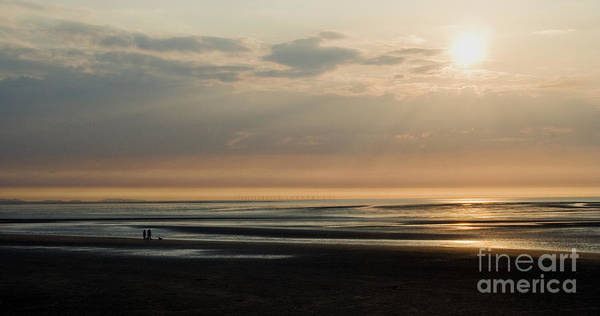 Sunset Poster featuring the photograph The Dog Walkers by Wayne Molyneux