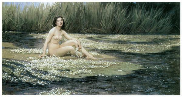 Herbert Draper Poster featuring the painting The Water Nixie by Herbert Draper