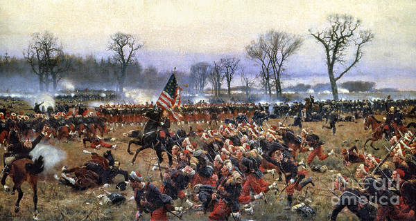 1862 Poster featuring the painting Battle Of Fredericksburg by Granger