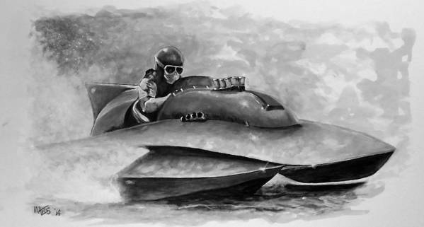 Racing Poster featuring the digital art Dash And Splash by William Walts