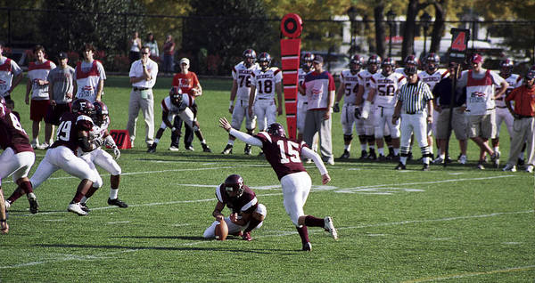 Kicking Poster featuring the photograph Football by Wes Shinn