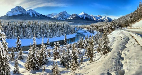 Poster featuring the photograph Bow Valley Winter View by Adam Jewell