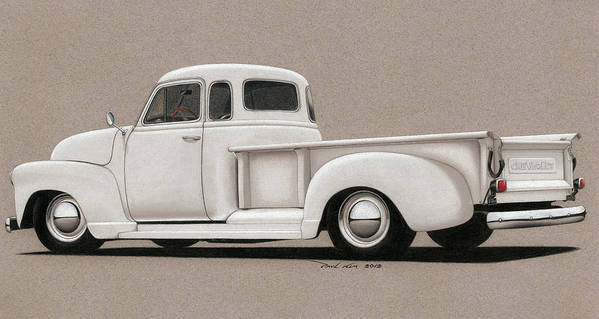 Automobile Poster featuring the drawing Bright White 3100 Degrees by Paul Kim