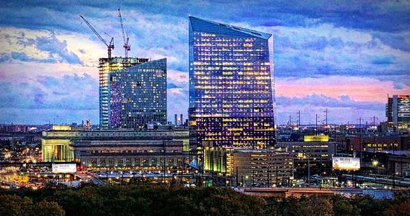 Alicegipsonphotographs Poster featuring the photograph Cira Centre Skyline At Dusk by Alice Gipson