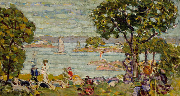 Prendergast Poster featuring the painting Cove Maine by Maurice Brazil Prendergast