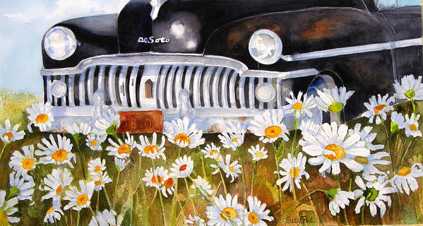 Artist Suzy 'pal' Powell Poster featuring the painting Daisy Desoto by Suzy Pal Powell